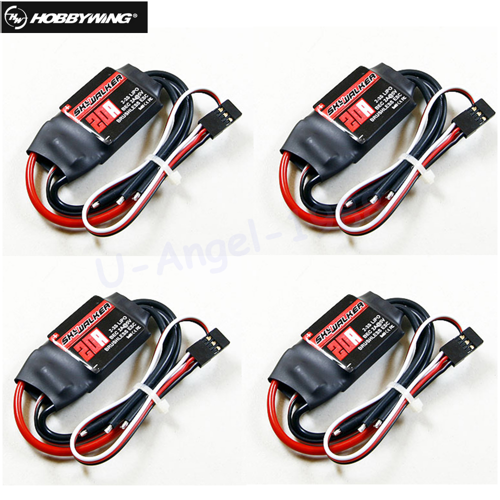 4pcs/lot Original Hobbywing Skywalker 20A 40A ESC Speed Controler For RC Airplanes  Helicopter Quadcopter BLM Dropship skywalker parachute landing umbrella 5 8kg for skywalker x8 x7 3 5kg for skywalker x5