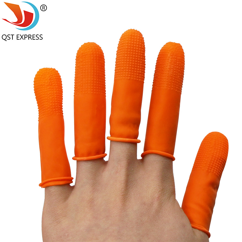 100pcs Quality Latex Finger Sets Anti-static Non-slip Clean No Powder Finger Cots Health Non-toxic Point Note Fingers Sets