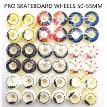 4pcs/Set Pro Skate wheels with multi Graphics Skateboard Wheels 51/52/53/54mm PU Wheels For Skateboard Deck Board
