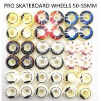 Roues de planche à roulettes Pro 51/52/53/54mm avec multi-graphiques Pu Sakte roues fille et élément 4 pièces/ensemble pour planche à roulettes