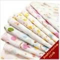 Nishimatsuya 100% Gaze de Algodão de Impressão Lenço Alimentação Do Bebê Bib/Saliva Toalha de Banho Toalha Absorção Do Suor Toalha 5 Pçs/lote