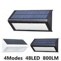Hohe Qualität Helligkeit 4 Modse 800LM Wasserdichte 48 LED Solar Licht 2835 SMD Weiß Solar Power Outdoor Garten