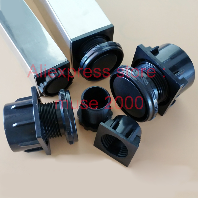 Image 2 - 25 30 38 40 50 60 ABS plastic square adjustable feet plug pad tube insert end blanking tube ending bed table desk leveling-in Furniture Legs from Furniture