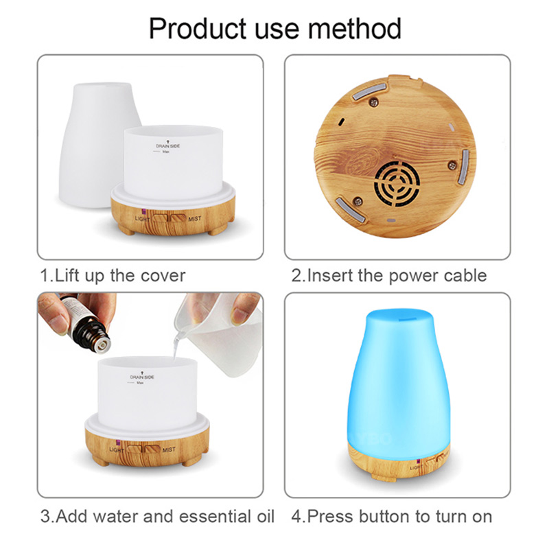 200ml Remote Control Electric Aroma Diffuser Air Humidifier Essential Oil Diffuser Aroma Lamp Aromatherapy Mist Maker in Humidifiers from Home Appliances