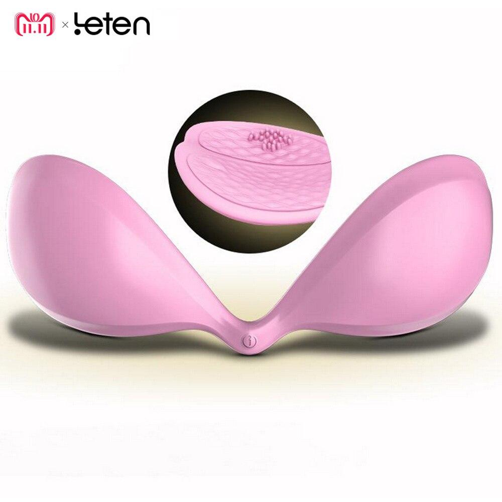 Leten Silicone USB Rechargeable Intelligent App contrôle masseur de sein mamelon vibrateur produits sexuels jouets sexuels pour adultes pour les femmes