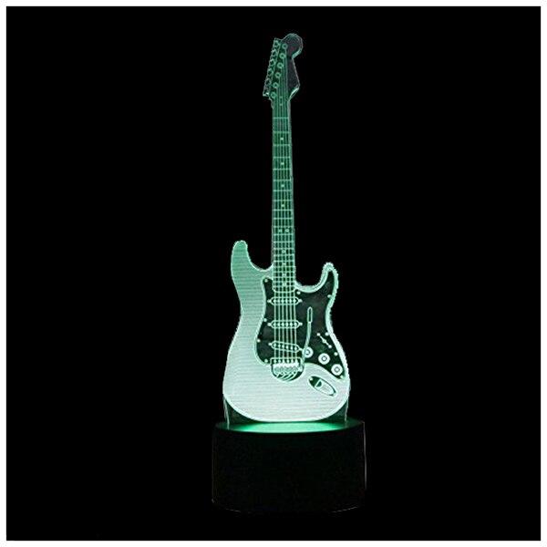 BIFI-New 3D Electric <font><b>Guitar</b></font> Night Light 7 Color <font><b>LED</b></font> Change Touch Switch Table Desk Lamp Art Light Christmas Gift Valentines Ki