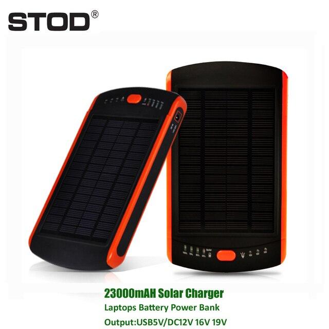 BTOD 23000 мАч Солнечное Зарядное Устройство Для Ноутбука PC Аккумулятор 5 В 12 В 16 В 19 В для iPhone 6 7 IBM DELL SONY HP Samsung Acer BenQ NEC Toshiba