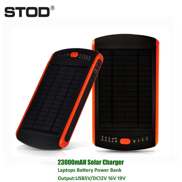 BTOD 23000 mAH Cargador Solar Portátil PC Batería 5 V 12 V 16 V 19 V para iphone 6 7 IBM sony dell hp samsung acer benq nec toshiba