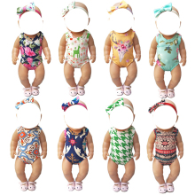 Doll clothes for Baby Dolls Clothes Christmas Halloween 18 inch bikini Short Rompers Toys Outfit