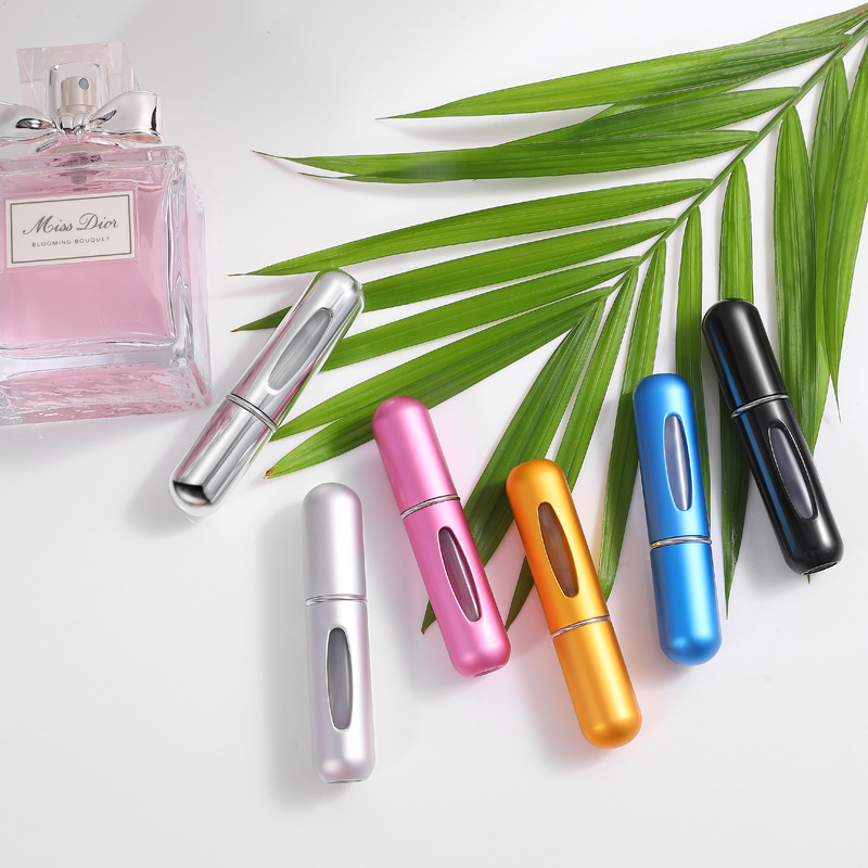 MUB - 5ml Portable Mini Refillable Perfume Bottle With Spray Scent Pump Empty Cosmetic Containers Spray Atomizer Bottle