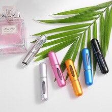 MUB   5ml przenośna Mini butelka perfum wielokrotnego napełniania z rozpylaczem zapach pompka puste pojemniki kosmetyczne rozpylacz butelka podróżna