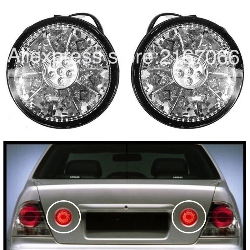 Tail Lights inner Trunk LED fits TOYOTA <font><b>ALTEZZA</b></font> / fits <font><b>LEXUS</b></font> IS200 / 300 1998-2005 Rear Lamps RIGHT+LEFT PAIR - CHROME image