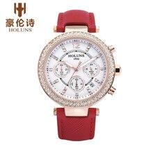 LS001 HOLUNS Reloj de Ginebra Marca CRONÓGRAFO SEÑORA De Moda de lujo relojes de diamantes T906.417.76.031.00 relogio feminino