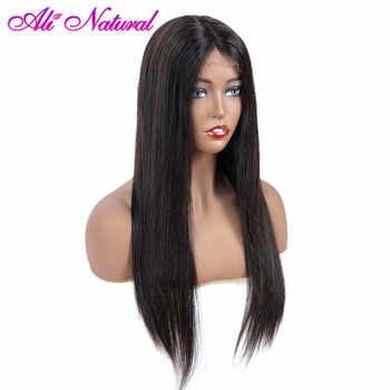Alinatural 13x4 Front Wigs Brazilian Human Hair Straight 150% Density Glueless Lace Front Human Hair Wigs For Black Women