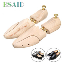 BSAID 1 Pair 2 Way Wooden Shoes Stretcher Wooden Shoes Tree Shaper Rack, Wood Adjustable Expander Trees For Man Women Sneakers
