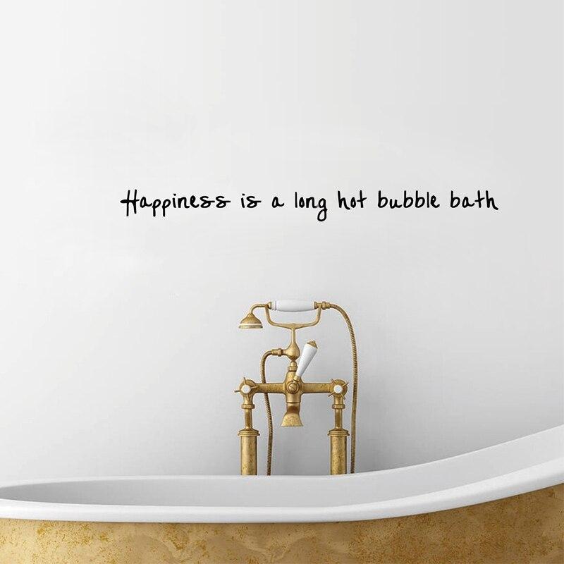 bathroom wall art decor Happiness is