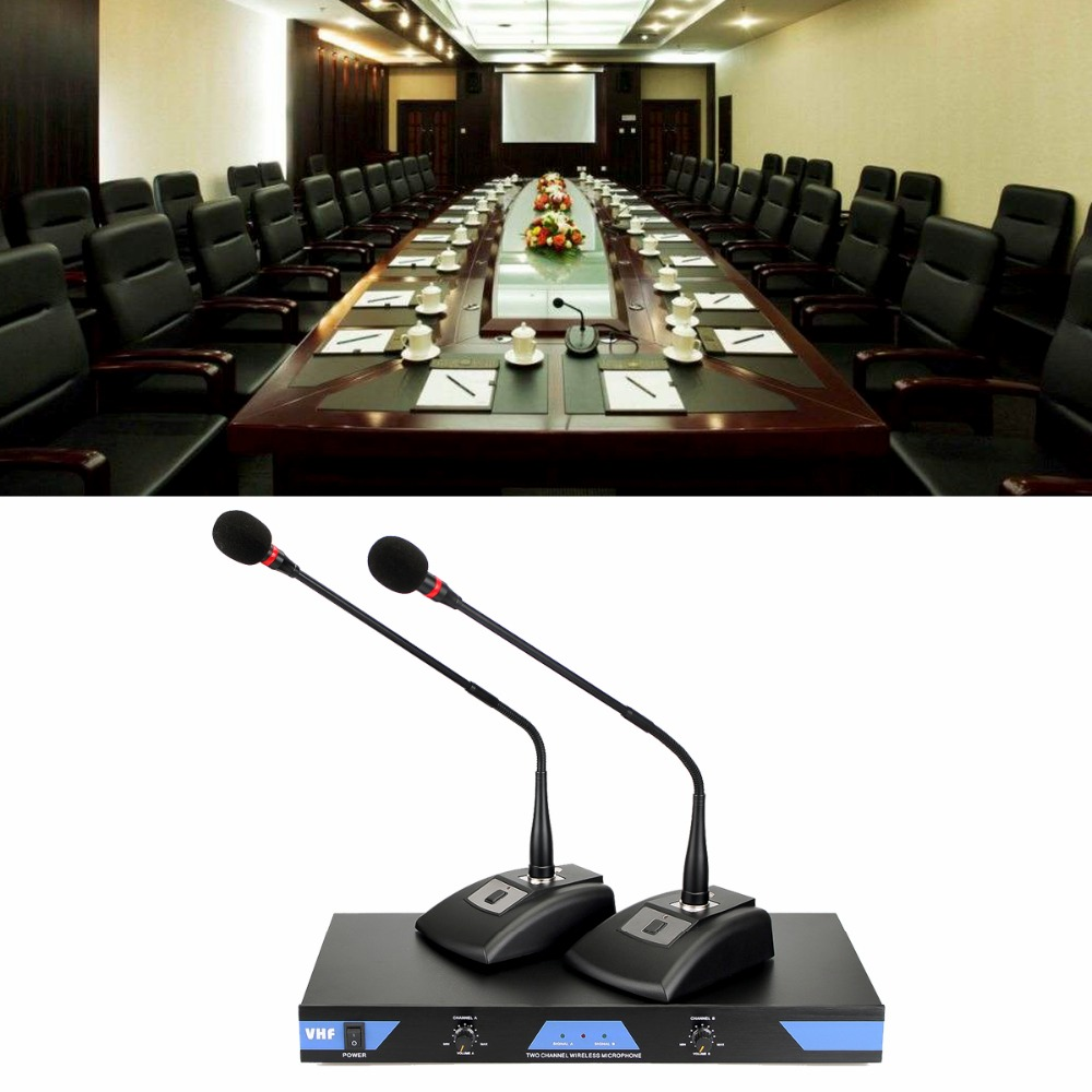 Wireless Conference Hand-hold Microphone Calling System Dual-way 50M For Meeting Room Digital Control Circuit F3345C 2 receivers 60 buzzers wireless restaurant buzzer caller table call calling button waiter pager system