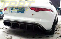 F Type Carbon Fiber Rear Lip Middle Dual Exhaust CF Rear Diffuser F Type Rear Bumper