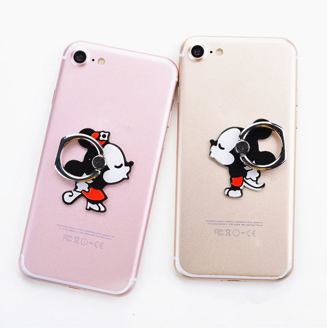 New 1 Piece Cute Cartoon cute mobile phone holder Stand Rings High Quality Metal Phone Finger Ring 1