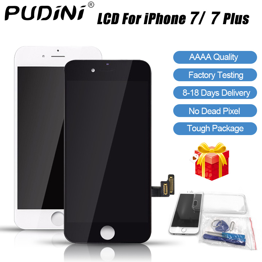 PUDINI AAAA 100% Original Screen LCD For iPhone 7 Plus LCD Replacement Display Touch 7 Plus Screen Tool Kits Screen LCDS