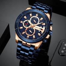 d4cea9ab745820 CURREN biznesowy zegarek męski luksusowa marka nadgarstek ze stali  nierdzewnej zegarek armia wojskowy chronografu zegarki kwarcowe