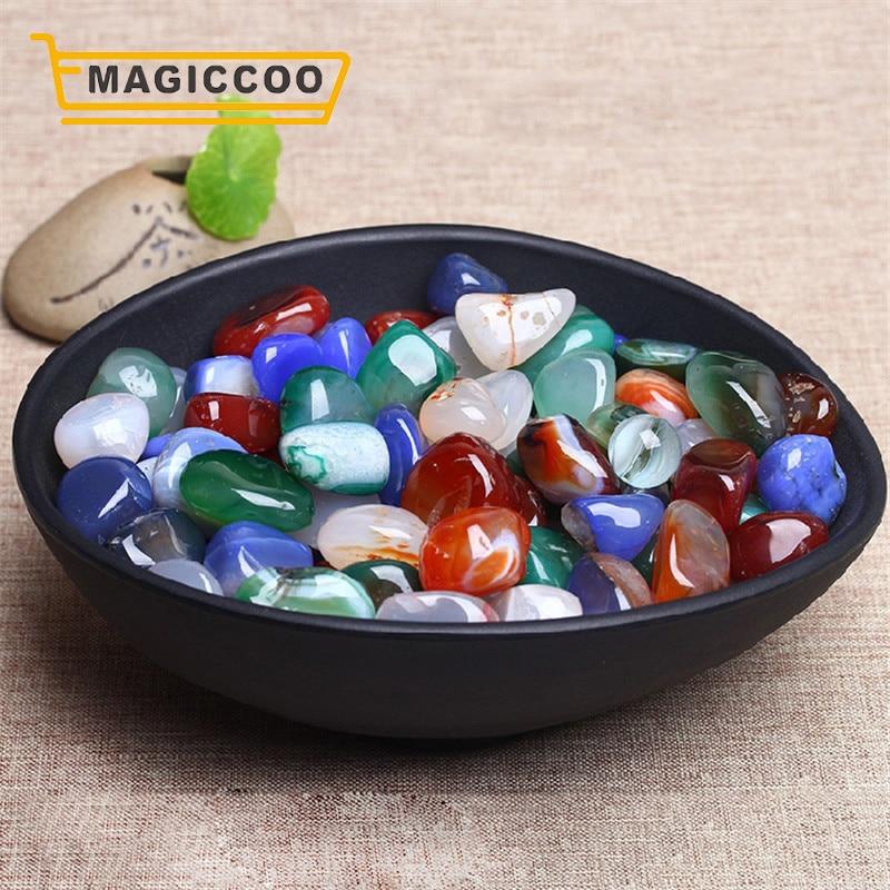 MAGICCOO 100G/PACK Agate Natural Cobblestone Healing Quartz Crystals Spirituality Reiki Minerals Rain Stone DIY Ornament Craft