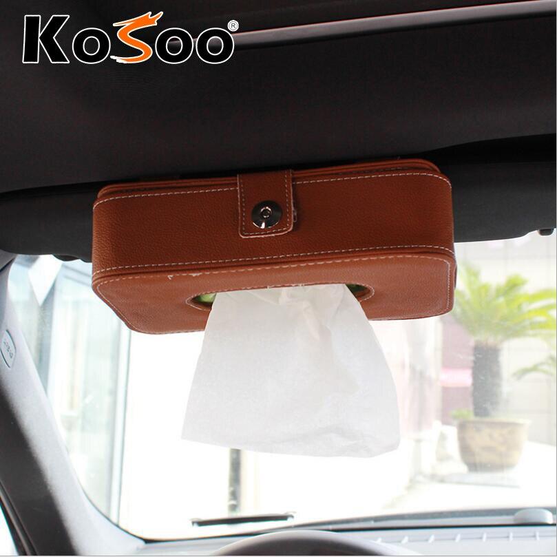 Kosoo car styling car sun visor tissue box holder auto for 16 box auto