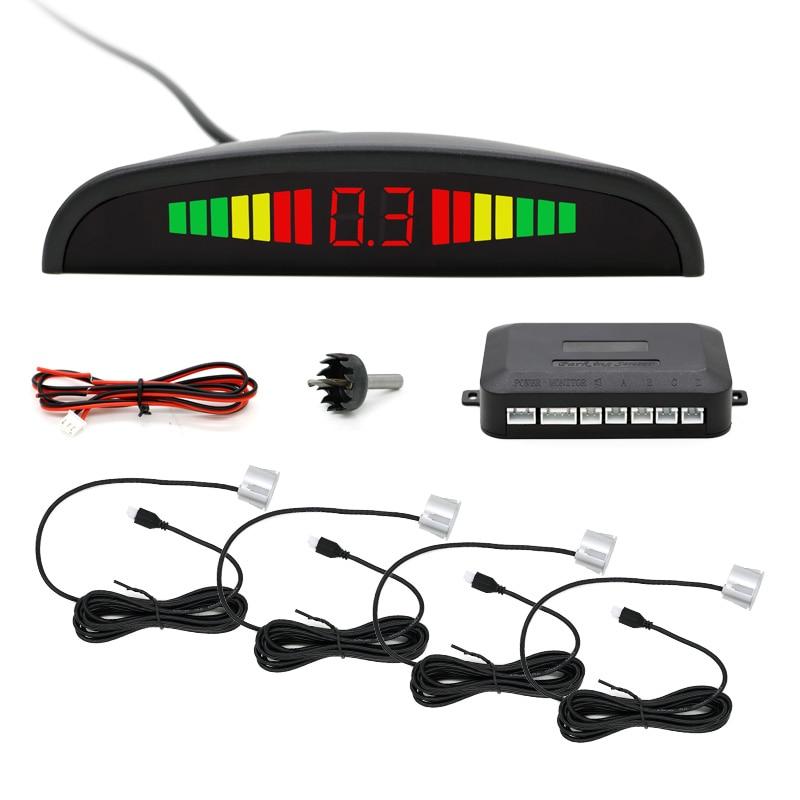 Авто парктроник LED Парковка Сенсор с 4 Датчики обратный резервный радар парковки Мониторы детектор Системы Подсветка Дисплей