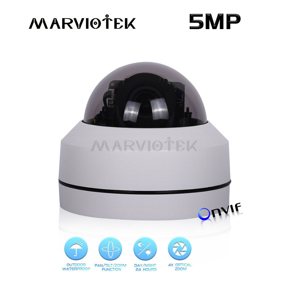 5MP IP Camera outdoor waterproof video surveillance 4X optical zoom ptz camera mini ip cameras 1080p