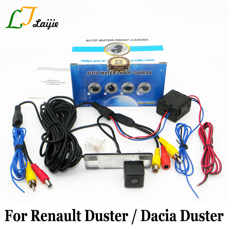 Laijie Car Rear View Camera For Renault Duster / For Dacia Duster / HD Wide Lens Angle Auto Back Up Reverse Camera / NTSC PAL for renault duster dacia duster in car 4 3 color lcd monitor car rear back up camera 2 in 1 park parking system