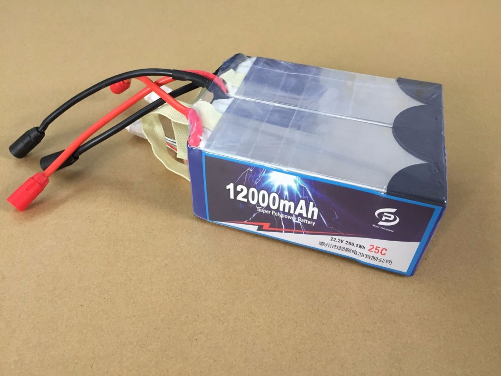 2in1 6S 22.2V <font><b>12000mAH</b></font> <font><b>lipo</b></font> battery for Agricultural spraying drone for X4-10 X4-10P quadcopter sprayer drone image