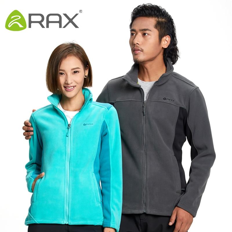 ФОТО RAX Outdoor Warm Softshell Jacket Men Women Winter Hiking Camping Fleece Jacket Men Woman Breathable Sports Jacket Softshell