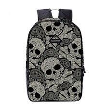 New Latest Fashion Oxford School Bag with Printing Newspaper Backpack for School Men Beautiful Skeleton Mochila