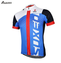 ARSUXEO Summer Mens Cycling Jersey Mountain Bike Bicycle Short Sleeves Clothing MTB Quick Dry Shirts