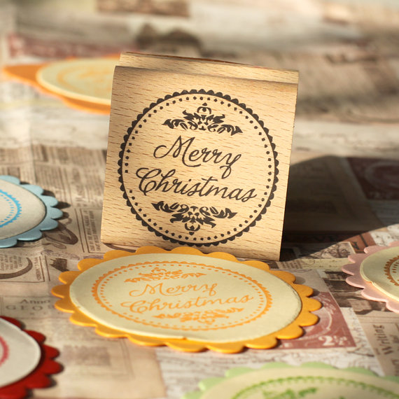 happy new year rubber stamps merry christams holiday rubber stamp card making 2x2 gift tag packaging stamp in stamps from home garden on aliexpresscom