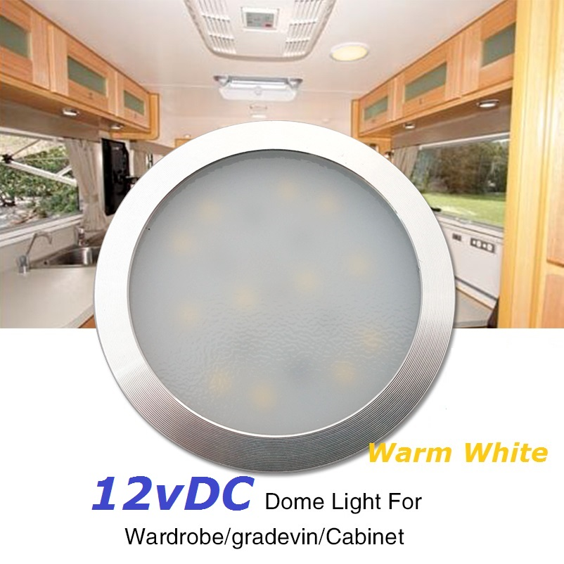 12v DC LED Warm White Down Light Under Cabinet Wardrobe Showcase Lamp with 1m wire Caravan RV Interior Roof Kitchen Dome lights 2x12v dc led ultrathin wardrobe under cabinet light pure white silver shell caravan rv interior lamp roof kitchen lighting