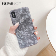 ROSINOP Marble Pattern Frosted TPU Case For iphone 7 plus 6 8 Ultrathin Cover x xs max xr Plain Full