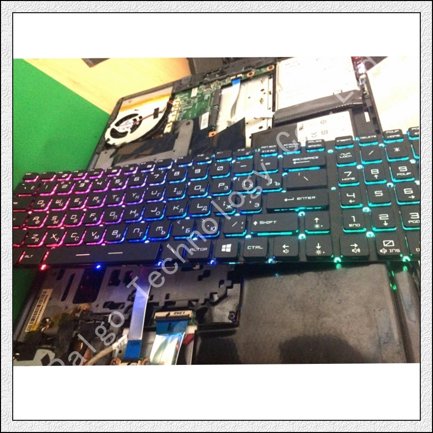 Image 3 - Russian RGB Backlit Keyboard for MSI MS 16K2 MS 16L2 MS 16JB MS 179B MS 1796 MS 1799 MS 16J9 MS 1792 MS 1791  MS 1795 MS 179B RU-in Replacement Keyboards from Computer & Office on