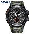 SMAEL, мужские наручные часы, двойной дисплей, аналоговый, цифровой, светодиодный, электронные, спортивные часы, мужские, Военный стиль, водоне...