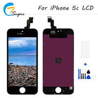 10PCS Lot Grade AAA No Dead Pixel LCD Assembly For IPhone 5C LCD Display With Touch