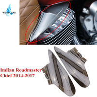 WISENGEAR 2x Motorcycle Saddle Reflective Heat Shield for Indian Chief Chieftain Roadmaster 2014 2017 Motorbike Parts