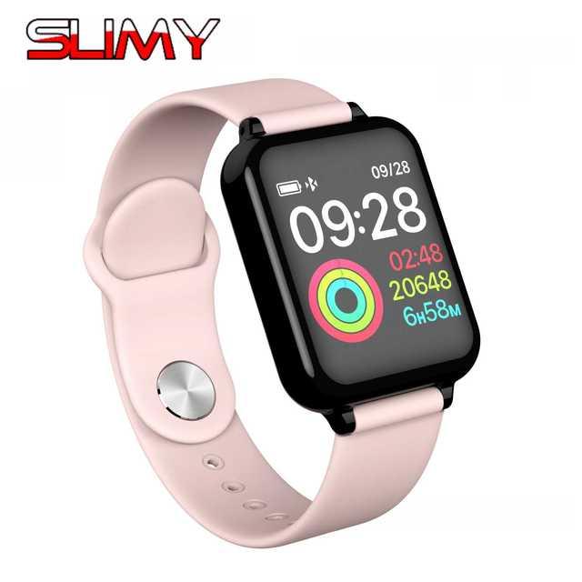 החלקלק B57 חכם שעון עמיד למים קצב לב צג לחץ דם מרובה ספורט מצב Smartwatch נשים גברים לביש מכשירים
