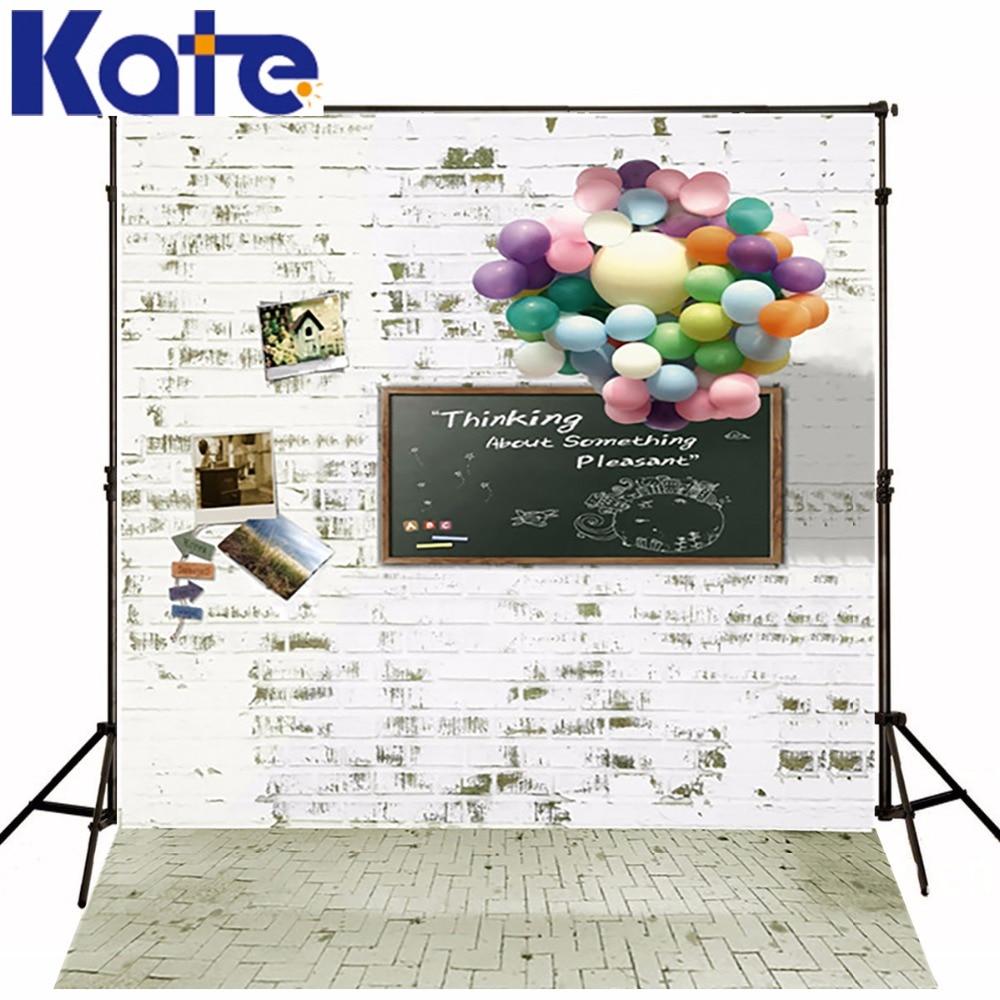 KATE 5x7ft pierre mur sol photographie fond coloré ballons tableau noir Kate décors pour photographie enfants