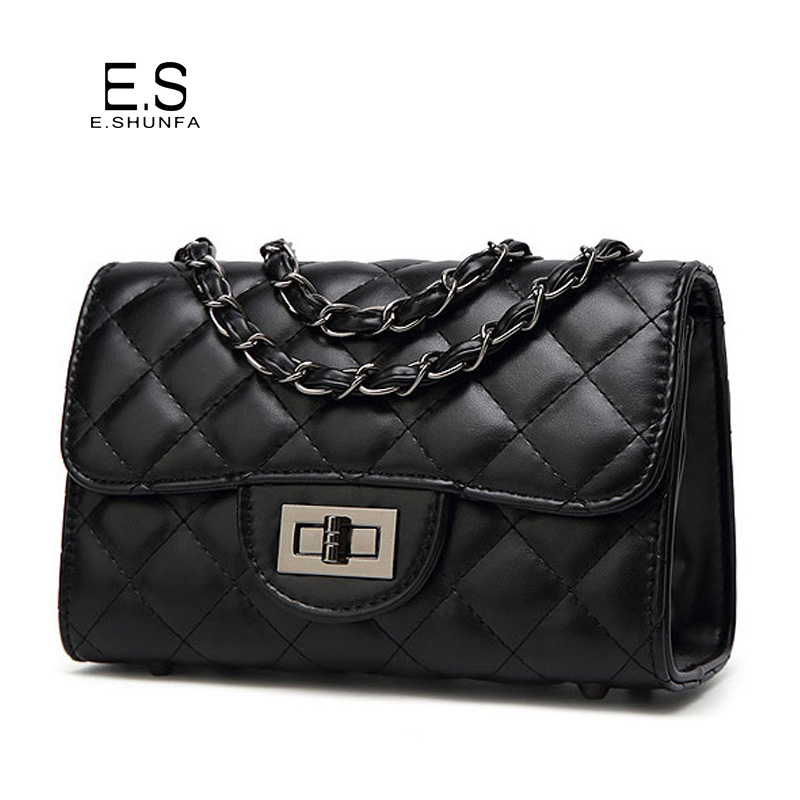 Casual Small Women Shoulder Bag 2017 Fashion Thread Plaid Shoulder Bags Leather Quilted Chain Casual Mini Crossbody Bag Woman 2017 fashion all match retro split leather women bag top grade small shoulder bags multilayer mini chain women messenger bags