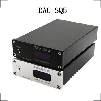 цена на 2020 NFJ&FX-Audio DAC-SQ5 Digital Audio Decoder Input USB/Coaxial/Optical PCM1794A+AK4113+VT1729USB DC12V/1A Remote Controller