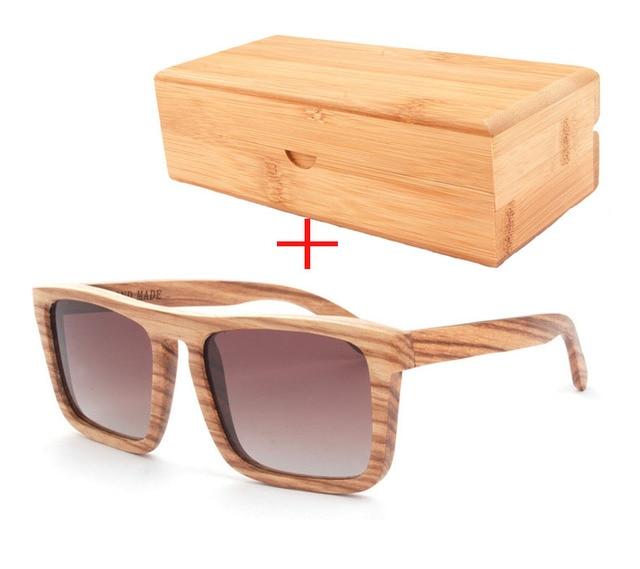 2017 fashion vintage wood frame polarized sunglasses high quality wooden frame glasses polarized sunglasses for men - Wood Framed Sunglasses