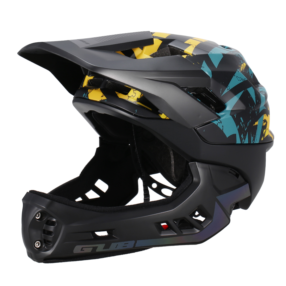 GUB Detachable Full Face Helmet for Child Cycling Skating Skiing Reflective Safety Helmet with Visor and