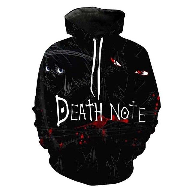 Death Note 3D Letter Printed Sweatshirt Hoodie