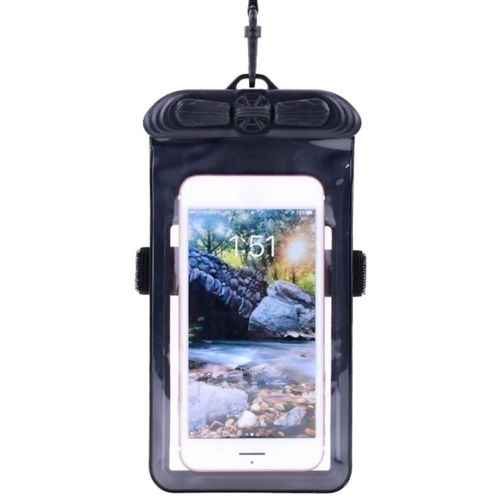Swimming Armbands Waterproof Mobile Phone Bag Underwater Touch Screen Cellphones Pouch For Surfing Diving Beach Sea Use