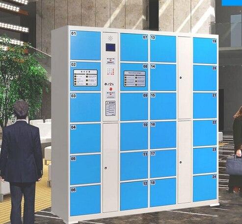 Temporary Smart password bar code fingerprint Cabinets locker Electronic  goods Safes lockers Cabinets